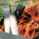 Brennholz mit Kaminanzünder aus FSC Birke - Supertrockenes und Sauberes Feuerholz mit...