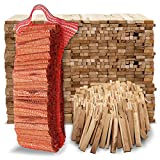 Aleko Parkett Premium 28 kg Brennholz - Anzünder aus Eichenholz, Bio Kaminanzünder, für...